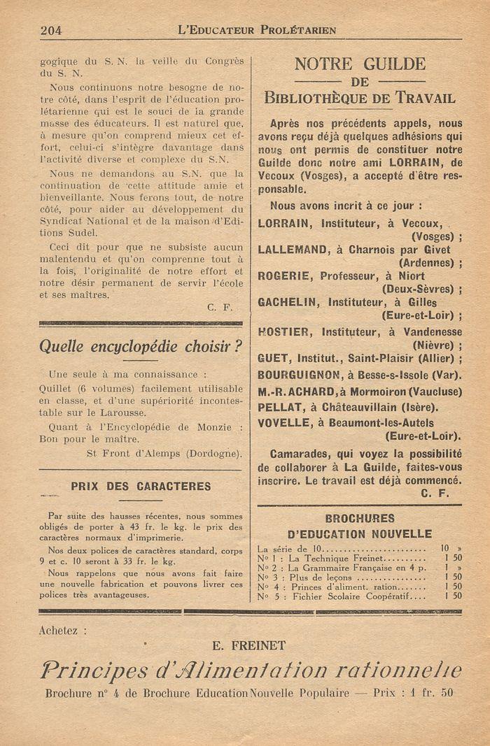 leducateur prol233tarien n17610 15 f233vrier 1938