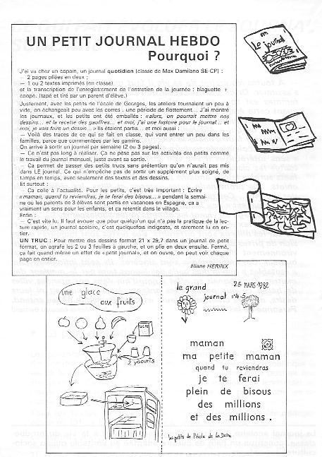 Temoignages Sur Le Journal Scolaire Suite Du Numero Sur Le Journal